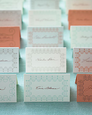 Martha stewart escort cards