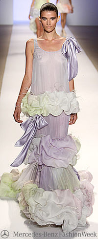 Erin fetherston lilac ruffles