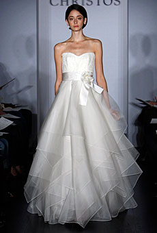 Christos organza tiers fall 2009
