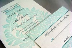 Pearl Beach sky blue invite