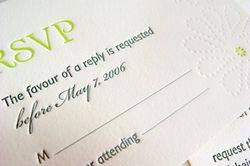 Pearl Beach dotted imprint RSVP