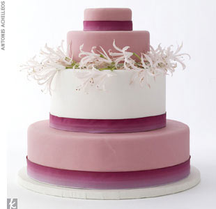 Blush and mauve cake