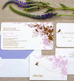 Hello Lucky Lavender chocolate invitations