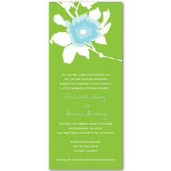 Wedding Paper Divas aqua lime invitations