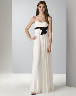 BCBG black ribbon gown