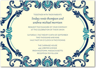 Elegant blue invitation