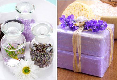 Lavender shower spa