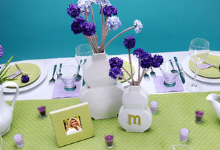 Lavender lime tabletop