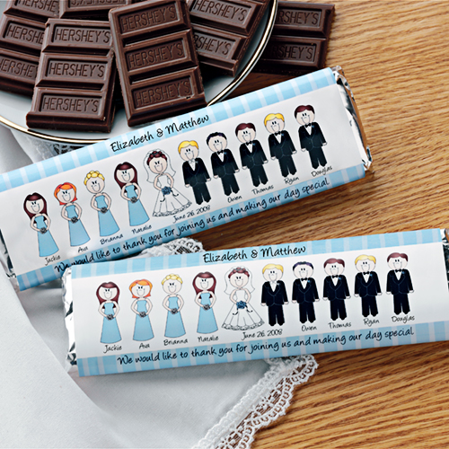 Wedding party candy wrapper