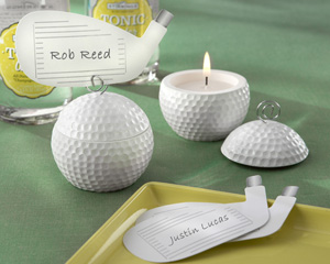 Golf ball candles