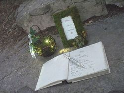 Firefly lantern and guest book