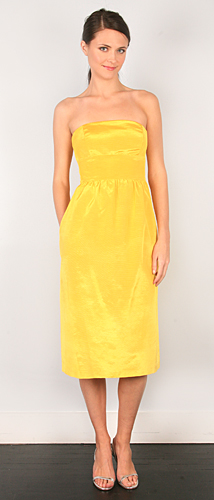 Thread yellow dress
