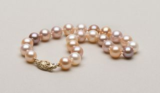 Museum way mixed pearl necklace