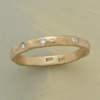 Hammered gold ring sundance