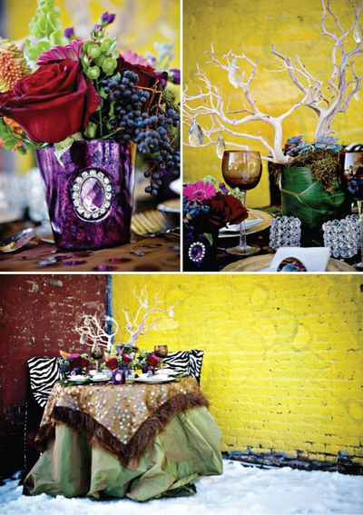 Jewel tone tables