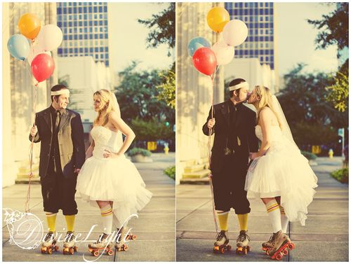 Trash the dress roller skates 1