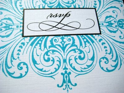 Turquoise RSVP