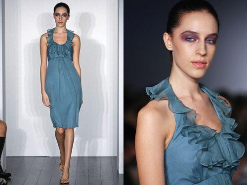 Amsale turquoise bm dress