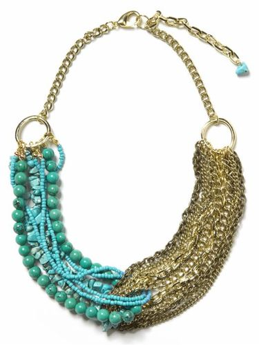 Turquoise banana necklace