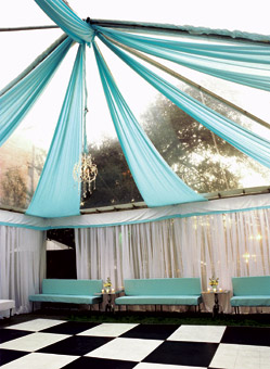 Tented blue