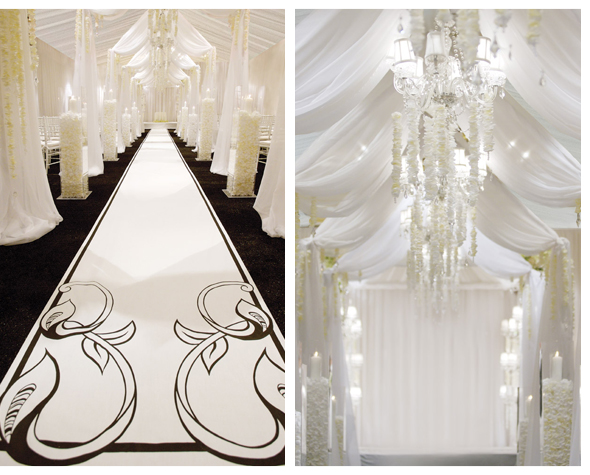 David tutera white wedding tent