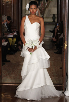 Carolina Herrera one shoulder 2010
