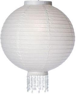 White beaded paper lantern