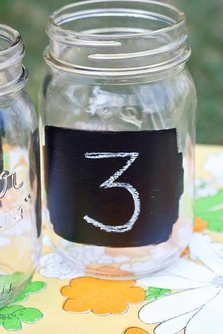 Mason jar chalkboards