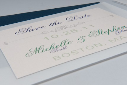 2ucouture save the date blue