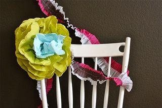 Handmade flower and streamer