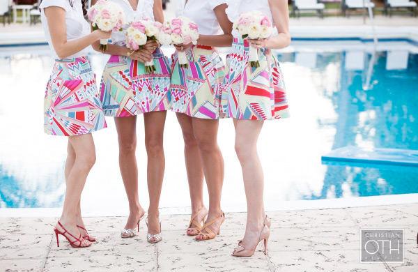 Bridal party skirts