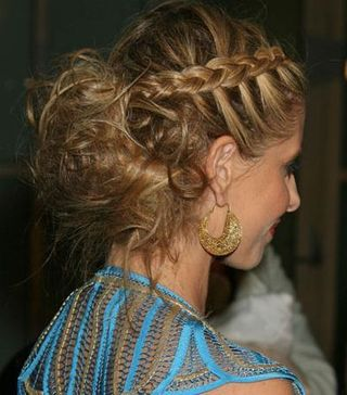 Greek goddess braid