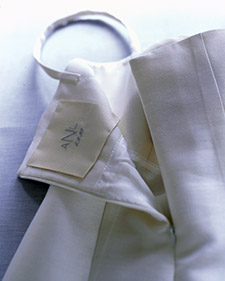 Monogram inside dress