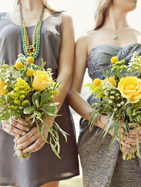Yellow and greenery bouquet