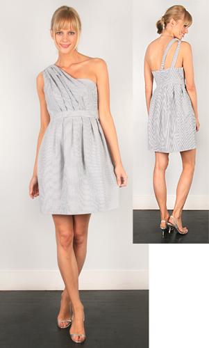 Thread seersucker dress