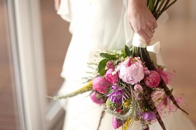 Pink and purple natural bouquet