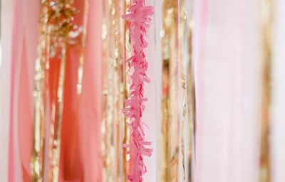 Pink and gold streamers