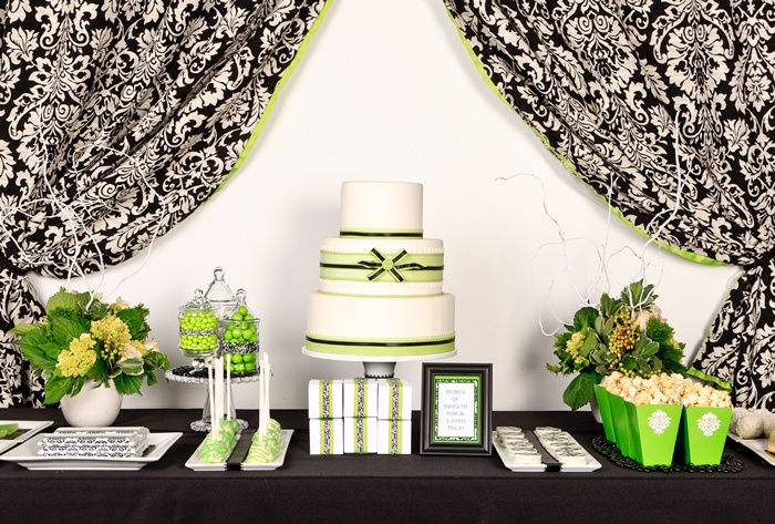 Damask candy table