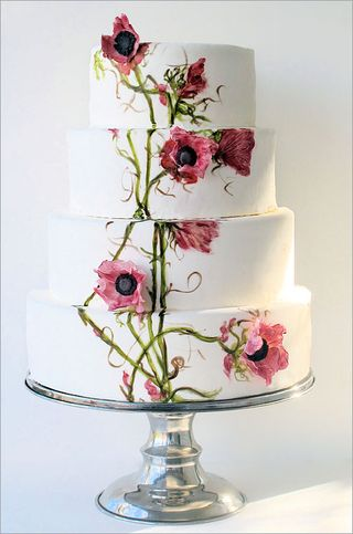 Painted Flowers Wedding Cake 2
