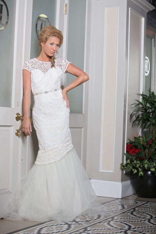 French lace and tulle mermaid