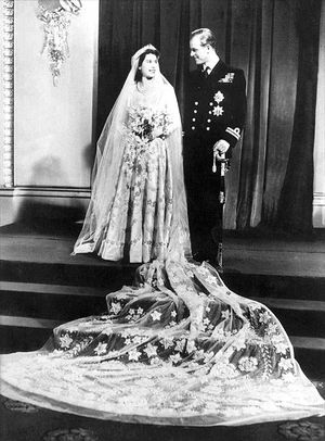 queen elizabeth ii wedding photos. of Queen Elizabeth II and